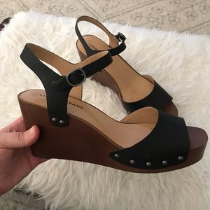 Lucky brand wedges Zashti heels size 9 1/2 M